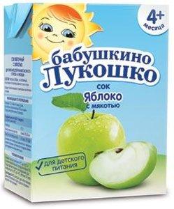 Сок Бабушкино Лукошко яблоко с мякотью с 4 мес., 200 мл