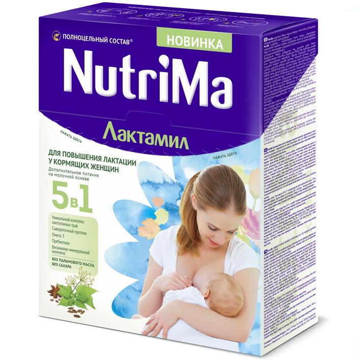 NutriMa Лактамил молочный напиток для повышения лактации у кормящих женщин 350г