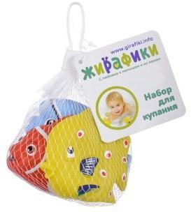 Жирафики игрушка для купания Морские рыбки