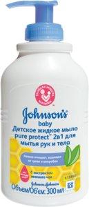 Johnson's Baby Pure Protect Детское жидкое мыло 2в1 300 мл