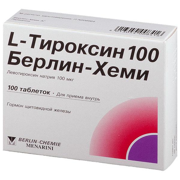 L-Тироксин 100 Берлин-Хеми таб 100мкг N100
