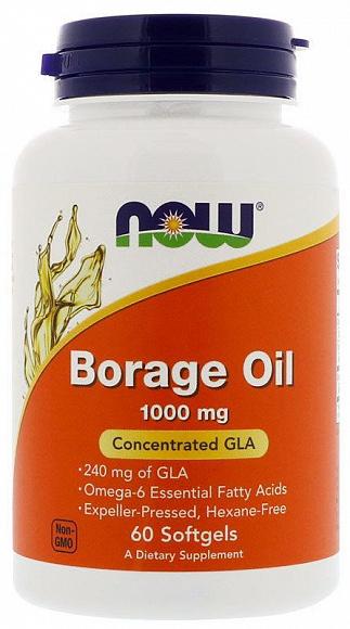 Now Бурачника масло (Borage Oil) 1000мг капс N60