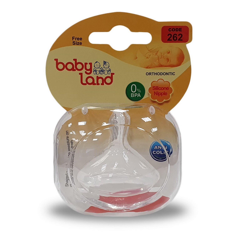 Baby Land соска силиконовая ортодонт 3мес+ 262