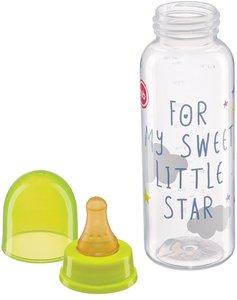 Бутылочка с латексной соской Happy baby 10018 0+ стандартное горло 250 мл