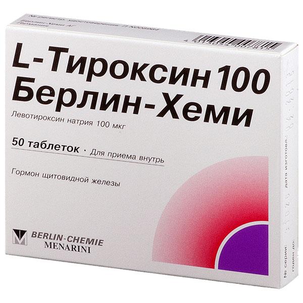 L-Тироксин 100 Берлин-Хеми таб 100мкг N50