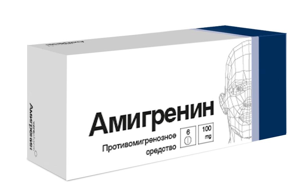Амигренин таб 100мг N6