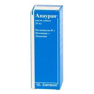 Анауран капли ушные 25мл фл-кап N 1