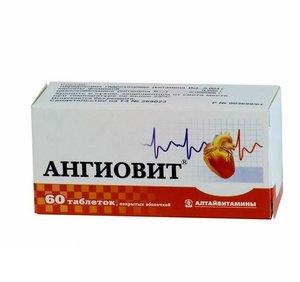 Ангиовит таблетки покрытые оболочкой N 60