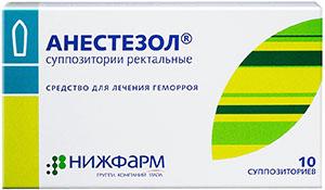 Анестезол супп ректальные N10 Нижфарм