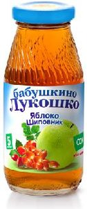 Сок Бабушкино Лукошко яблоко-шиповник с 5 мес., 200 мл