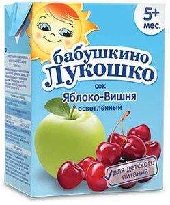 Сок Бабушкино Лукошко яблоко-вишня с 5 мес., 200 мл