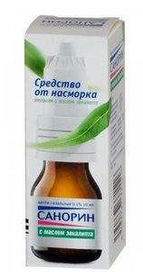 Санорин капли наз с маслом эвкалипта эмульсия 0.1% флакон 10мл N 1