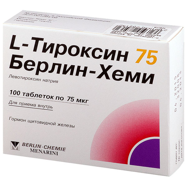L-Тироксин 75 Берлин-Хеми таб 75мкг N100