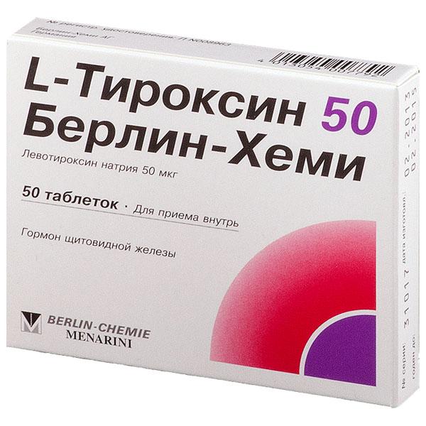 L-Тироксин 50 Берлин-Хеми таб 50мкг N50