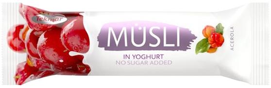 Батончик мюсли ацерола в йогурт глазури б/сахара 30г Текмар