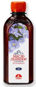 Льняное масло с селеном Биокор 250 мл