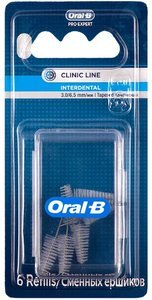 Oral-B Ершики цилиндрические для брекетов 6 шт.