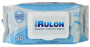 Влажная туалетная бумага Mon Rulon N 50