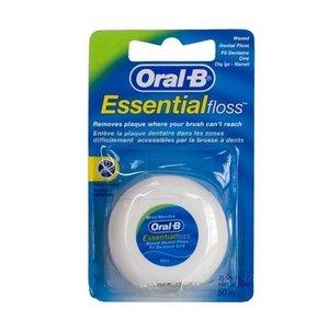 Oral-B Зубная нить Essential мятная вощеная 50 м