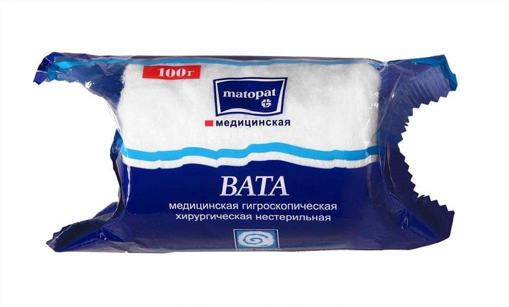Вата Матопат хирургическая н/стер 100г