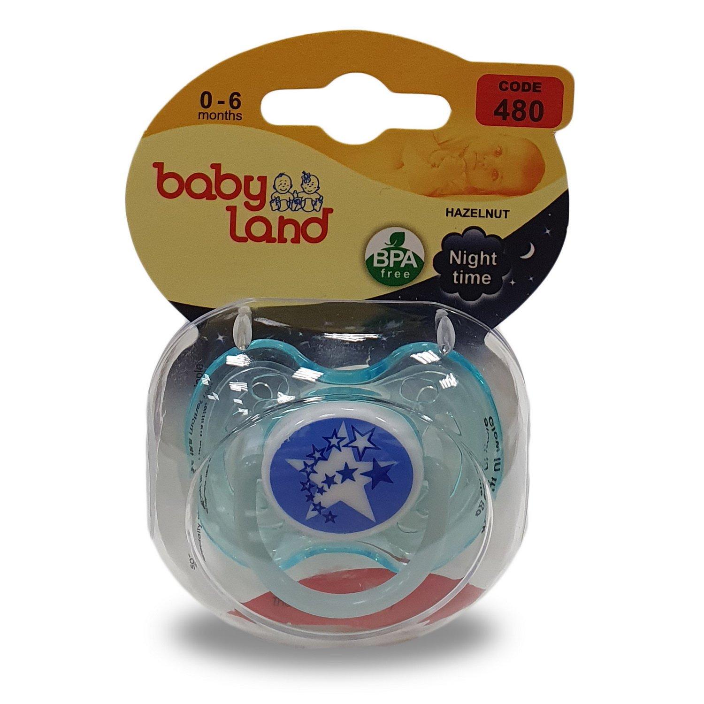 Baby Land пустышка силиконовая классик ночная 0-6мес 480