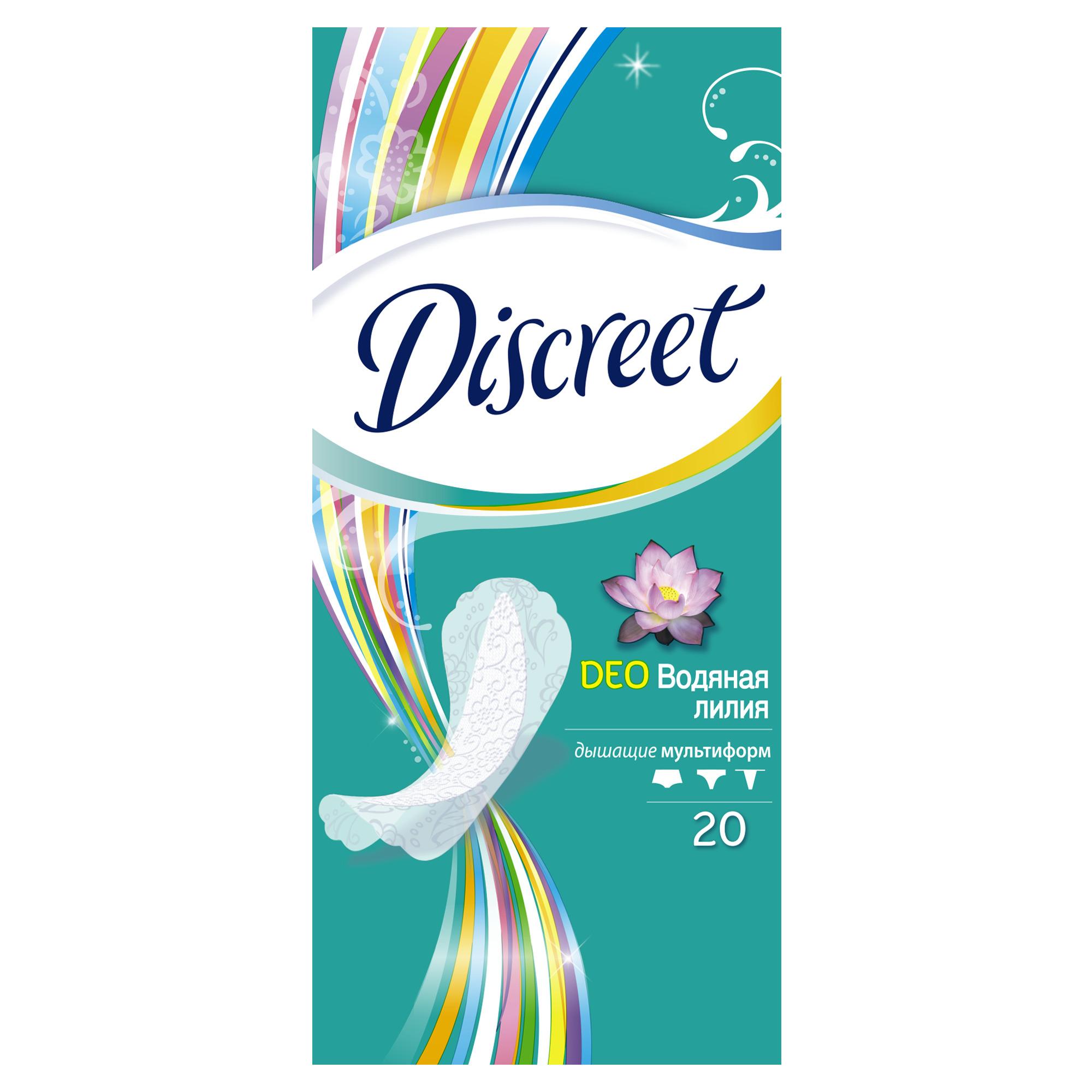Женские ежедневные прокладки DISCREET Deo Water Lily Multiform, 20 шт.