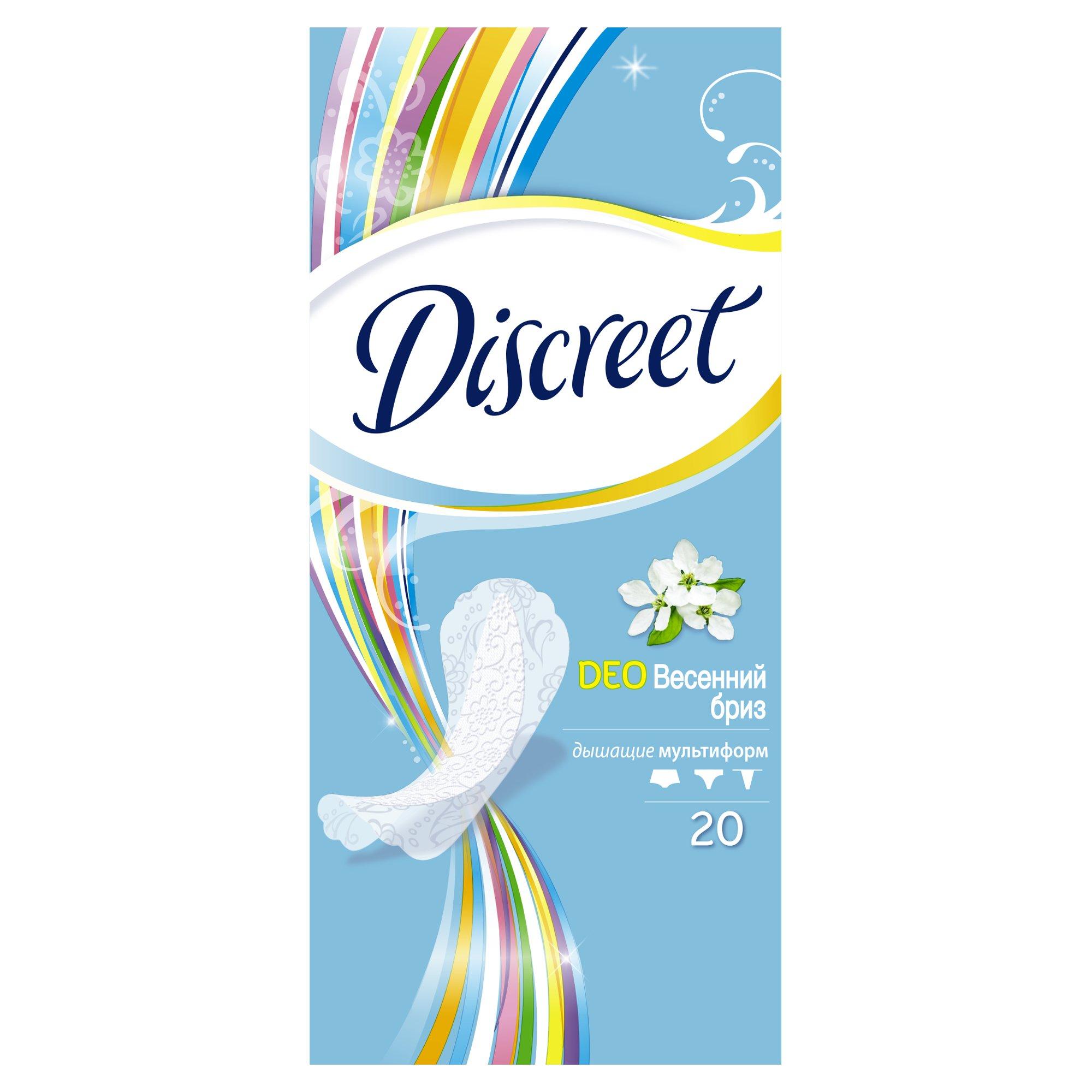 Женские ежедневные прокладки DISCREET Deo Spring Breeze Multiform, 20 шт.