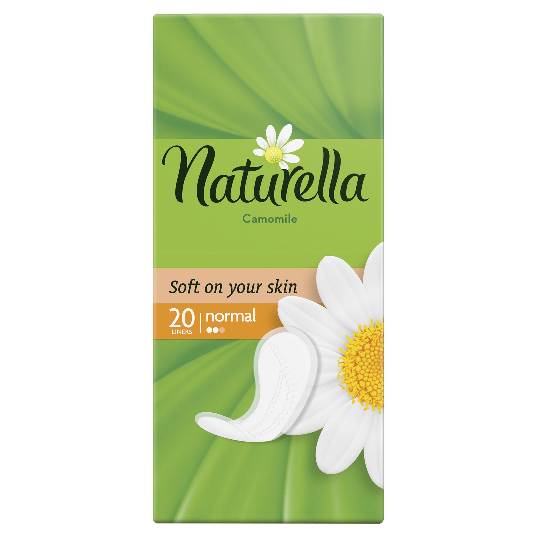 Женские ароматизированные ежедневные прокладки NATURELLA Normal (с ароматом ромашки), 20 шт.