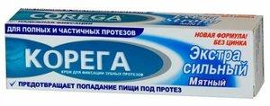 Корега Экстра сильный Крем для зубных протезов мятный 40 мл
