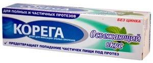 Корега Крем для фиксации зубных протезов освежающий вкус 40 мл