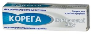 Корега Крем для фиксации зубных протезов нейтральный вкус 40 мл
