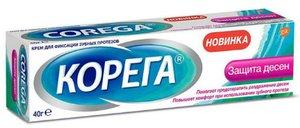 Корега Крем для фиксации зубных протезов защита десен 40 мл
