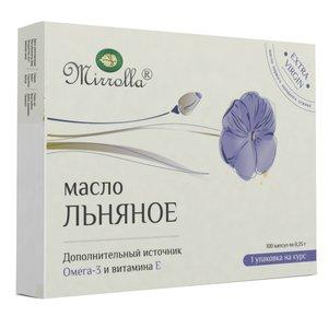 Льняное масло Миролла капсулы 0,3 г N100