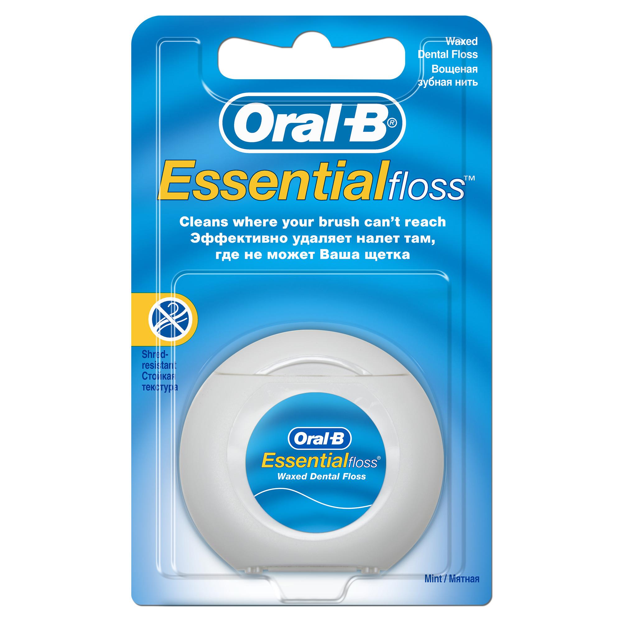 Зубная нить Oral-B Essential Floss Waxed Mint, 50 м