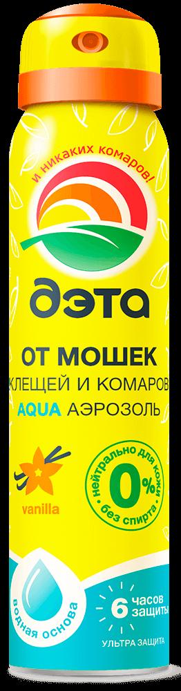 Дэта Аква аэрозоль от мошек, клещей и комаров 100мл