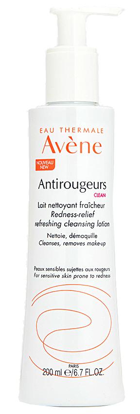 Antirougeurs clean молочко освежающее очищающее против покраснений кожи 200мл Avene (Авен)