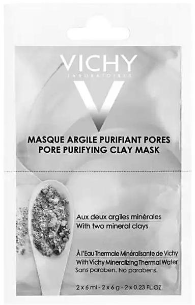 Маска очищающая поры минеральная маска с глиной саше 6мл N2 Vichy (Виши)