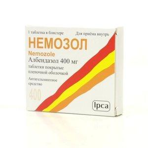 Немозол таблетки покрытые оболочкой 400 мг N 5