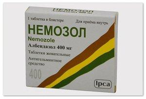 Немозол таблетки жеват 400мг N 1