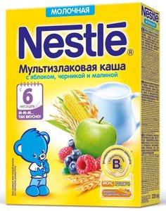 Nestle Каша молочная мультизлаковая яблоко\черника\малина с 6 мес., 220 г