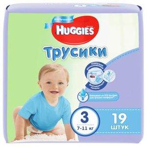 Huggies 3 Подгузники-трусики для мальчиков 7-11 кг 19 шт.