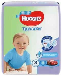 Huggies 3 Подгузники-трусики для мальчиков 7-11 кг 58 шт.
