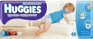 Huggies 5 Подгузники-трусики для мальчиков 13-17 кг 48 шт.