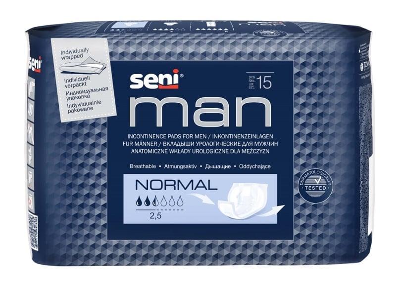 Вкладыши для мужчин Seni Man Normal, 15 шт.